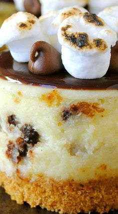 S'mores Mini Cheesecakes are a classic family favorite. Best Homemade Cheesecake Recipe, Best Cheesecake, Cheesecake Recipes, Dessert Recipes, Desserts To Make, Summer Desserts, Delicious Desserts, Mini Chocolate Cheesecake, Chocolate Pastry