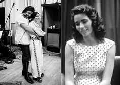 Johnny Cash mit seiner Frau June Carter Cash; June Carter Cash im Pünktchenkleid, Quelle: Sony BMG