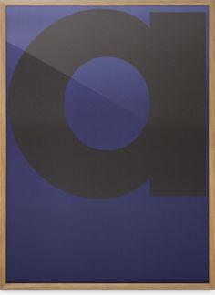 letter a. blue. frame. type.
