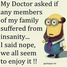 Funny Minion Meme About Doctors vs. Families