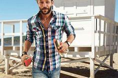 Ropa de moda hombre: camisa-cuadros-desigual-2015 menstyle