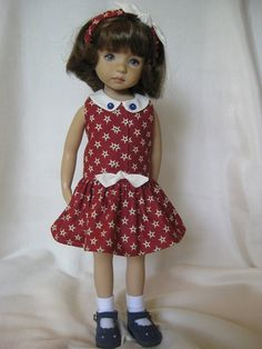 "STARS made to fit 13"" Little Darling Effner Vinyl doll by Darla"