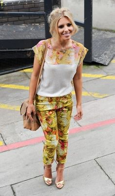 We're diggin' Mollie King in Ted Baker's Tea Party print blouse and trousers. Check it out on ASOS.