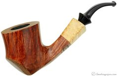 Randy Wiley Smooth Drunken Sitter with Spalted Maple (77) Pipes at Smoking Pipes .com