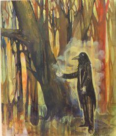 Miguel Curani. Artista plástico: el amo del bosque50 x 60carton entelado
