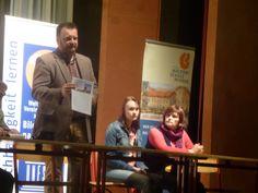 Jürgen Huhle als Moderator bei der Aktionswoche und bei der Podiumsdiskussion