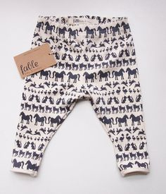 Organic, Printed Baby Footless Leggings by Fable Baby