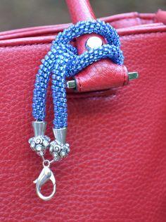 Wrap-around kumihimo key chain made of Miyuki glass beads. $20 Purse Handles, Wrap Around, Key Chain, Glass Beads, Purses, Beading, Gifts, Handmade, Bags