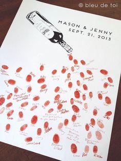 Belas ideias de livros de assinaturas com impressões digitais