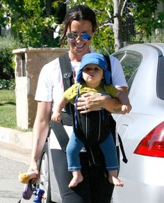 Alanis Morissette And Son Out Walking Their Dog