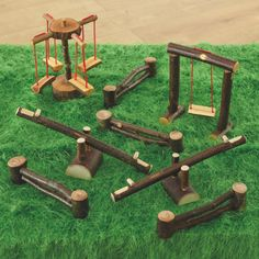 Woodland Playground Set - this inspires me for a playground within a playground!