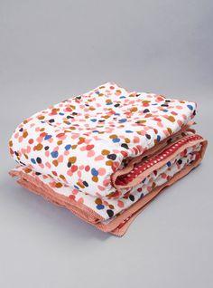 Beautiful Quilt! I love Poka dots! My fav.