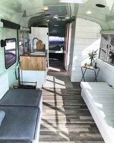 School bus conversion Skoolie Tiny home Tiny living #tinyhomeconversion