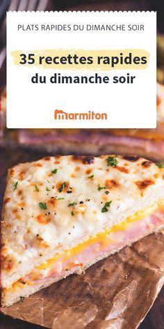 Le dimanche soir, on a la flemme de cuisiner n'est-ce pas ? Voici des recettes faciles et rapides pour des dimanches soirs gourmands... même quand on a la flemme ! #marmiton #dimanche #recetterapide #rapide
