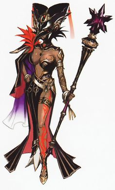 Cia-Race: Sorceress Title: Dark Sorceress Weapon: Scepter Craft: Summoning Magic-Driven by the darker side of herself, she opens the Gate of Souls to conjure an army of darkness. Meanwhile, her good side manifested itself in the form of Lana to assist the heroes. It is later revealed that she originally separated the two remaining Triforce pieces before succumbing to Ganondorf's evil influence