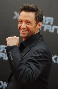 """Hugh Jackman - there should be a """"love"""" option  on top of the like one!!!"""