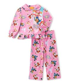Pink Up to the Skies Ruffle Pajama Set - Toddler #zulily #zulilyfinds