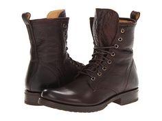Frye Veronica Combat Dark Brown Soft Vintage Leather - Zappos.com Free Shipping BOTH Ways