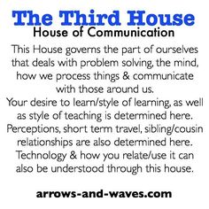 Astrology: 3rd (Third) House (House of Communication) | #Astrology #3rdHouse #ThirdHouse