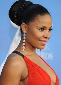 afriacan american pony tails | African American Wedding Hairstyles & Hairdos: Sanaa Lathan's Braid ...