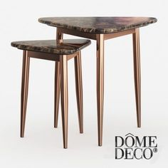 models: Table - Dome Deco set of coffee tables Side Coffee Table, Sofa Side Table, Brass Coffee Table, Coffee Table Design, Side Tables, Italian Furniture, Luxury Furniture, Furniture Design, Corner Table Living Room