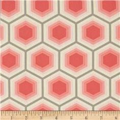 Tula Pink Bumble Honeycomb Sorbet