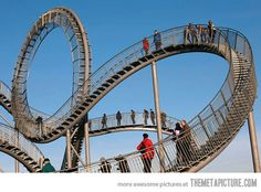 Roller coaster staircase  in Germany~http://www.phaenomedia.org/index-e.html#