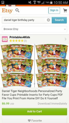 1b1e688a62 Cup inserts. Cheryl Browning · Daniel tiger party