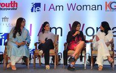 Kiran Bawa, Maheka Mirpuri, Nisha JamVwal and Reshma Merchant at the I Am Women event