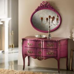 Love the almost blueberry tint of this chest of drawers from Nella Vetrina