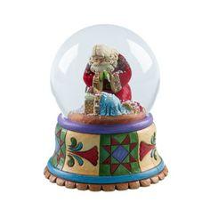 Jim Shore Heartwood Creek Santa with Baby Jesus Musical Waterball