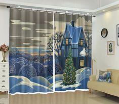 3D Islamic Texture Pattern Blockout Photo Printing Fabric Window Curtain Drapes