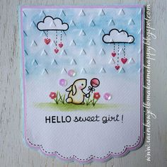 Lawn Fawn - Hello Baby _ sweet baby card by Lexa via Flickr - Photo Sharing!