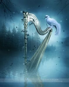To sing your own Soul song, to know the depths of your own sweet music, your must know & Be the depths of who you truly are... the depths & beauty of Paradise within ♥♥ With Love, Carolyn & Andy ♥♥ Beautiful Artwork by Jessica Allain ~ The Harp ~ EnchantedWhispers.deviantart.com