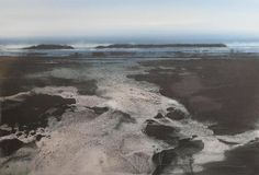 Naomi Tydeman - Marsh Moon - Watercolour & Silver Leaf I live on the edge of a shallow sandy bay with a large tidal reach. I'm down there...