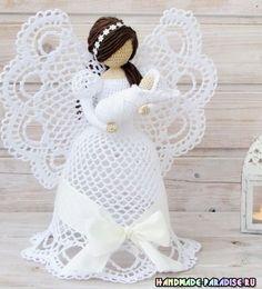 Best 12 Thanks Crochet Angel Pattern, Vintage Crochet Patterns, Crochet Angels, Crochet Christmas Ornaments, Christmas Crochet Patterns, Crochet Snowflakes, Crochet Diy, Thread Crochet, Crochet Doilies