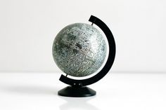 Vintage 1970 Desktop Lunar Moon Globe  Apollo Moon by WiseApple, $108.00