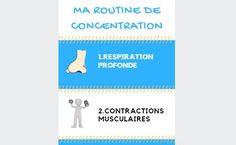 L'affiche de ma routine de concentration à télécharger gratuitement pour un usage en classe, à la maison, en cabinet (orthophonistes, sophrologues...)
