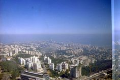Haifa as seen from the Top of the University Tower. One sees the point of Mount Carmel as it stands out into the Mediterranean photo mirjam Bruck -Cohen