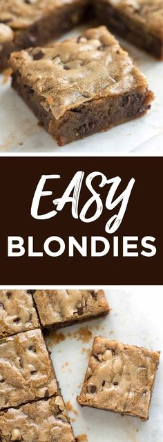 Easy, No-Fail Blondies Recipe -- Seriously one of my favorite dessert recipes! These blondies taste like deep, rich buttery caramel. They are easily customizable, too -- add chocolate, nuts, fruit or other flavorings to make them your own. #dessert #desserts