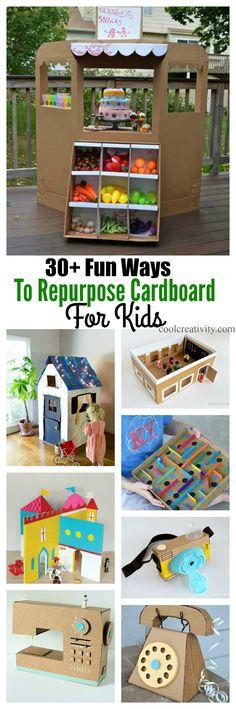 30+ Fun Ways To Repurpose Cardboard For Kids