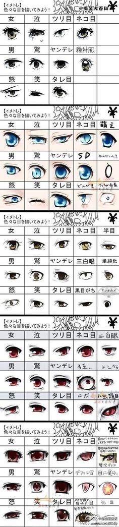 【绘画教程】画动漫人物眼睛 技法 手绘 素描 铅笔画 插画