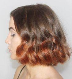 Auburn Ombre Hair, Dark Ombre Hair, Short Dark Hair, Short Ombre, Ombre Brown, Ombre Hair Color For Brunettes, Brunette Color, Short Hair Trends, Short Hair Styles