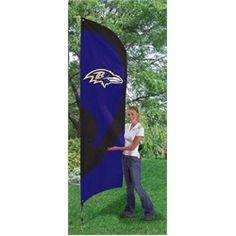 Baltimore Ravens Large 8 Ft Tall Tailgate Flag