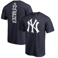 30c7b9feba58 Clint Frazier New York Yankees Fanatics Branded Backer T-Shirt - Navy