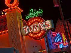 The neon shines at Luigis Casa Della Tires