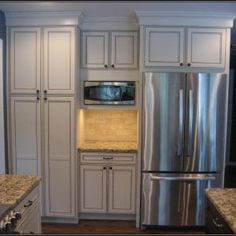 KITCHEN CABINETS around REFRIGERATOR. Could do this but just put a ...