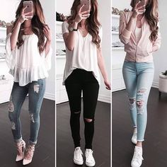 Clothes For Teens Classy Casual Ideas For 2019 Teenage Outfits, Teen Fashion Outfits, Cute Fashion, Look Fashion, Outfits For Teens, College Outfits, Girl Fashion, Girl Outfits, Swag Outfits