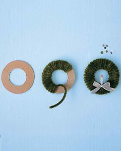 Easy Ornaments: Pipe-Cleaner Wreath - Martha Stewart Christmas crafts for kids 24 of Our Most Memorable DIY Christmas Ornaments Easy Ornaments, Ornament Crafts, Diy Christmas Ornaments, Handmade Christmas, Christmas Wreaths, Christmas Decorations, Candle Decorations, Christmas Candle, Christmas Gifts