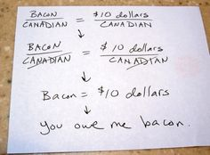 How Canadian money can be used in America. Obviously.